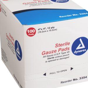 4″ x 4″ Sterile Gauze 12 Ply: Single Pad