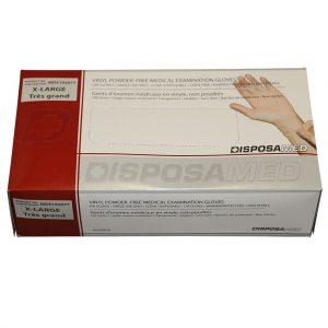 Vinyl Medical Examination Gloves Powder-Free, X-Large 100's