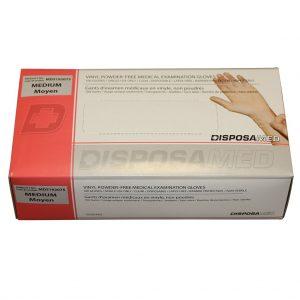 Vinyl Medical Examination Gloves Powder-Free, Medium 100's