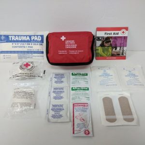 PERSONAL FIRST AID KIT IN NYLON BAG with CPR FACESHIELD