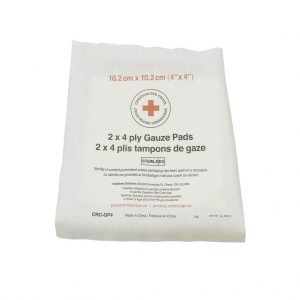 4″ x 4″ Sterile Gauze 4 Ply – 2 per package, bag of 25