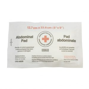 5″ x 9″  (12.7 x 22.9 cm) STERILE ABDOMINAL/COMBINE PAD STERILE -Bag of 10