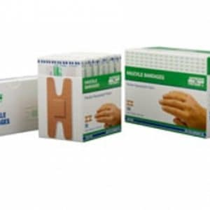 FABRIC BANDAGES, KNUCKLE 3.8 x 7.6 cm, HEAVYWEIGHT 50's